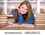 portrait of clever student with ... | Shutterstock . vector #188108321