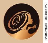 hair salon and beauty studio... | Shutterstock .eps vector #1881086497