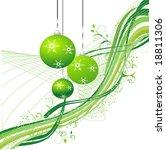 christmas green background  ... | Shutterstock .eps vector #18811306