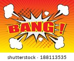 bang     comic speech bubble ... | Shutterstock .eps vector #188113535