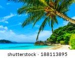 beach of similan islands at...   Shutterstock . vector #188113895
