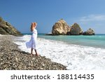 girl looking to the sea near... | Shutterstock . vector #188114435