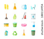 cleaning housework equipment... | Shutterstock .eps vector #188114954