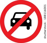 No Car Or No Parking Traffic...