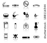 smoking icons | Shutterstock .eps vector #188116544