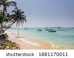 Beautiful Blue Ocean Bay With...