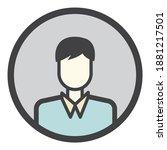 interface user avatar active... | Shutterstock .eps vector #1881217501