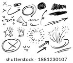 hand drawn set of abstract...   Shutterstock .eps vector #1881230107