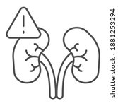 exclamation point and kidney... | Shutterstock .eps vector #1881253294