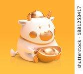 3d Illustration Of Cute Ceramic ...