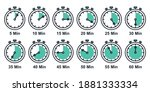 stopwatch icon set  timer ...