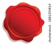 insignia wax seal icon. cartoon ... | Shutterstock .eps vector #1881354814