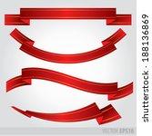 set red ribbons vector | Shutterstock .eps vector #188136869