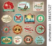 collection of vintage retro... | Shutterstock .eps vector #188137127