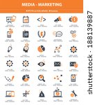 media   marketing icons orange... | Shutterstock .eps vector #188139887
