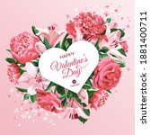 valentine's day greeting card... | Shutterstock .eps vector #1881400711