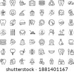 thin outline vector icon set...   Shutterstock .eps vector #1881401167