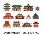 traditional chinese buildings ...   Shutterstock .eps vector #1881426757