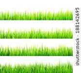 fresh spring green grass... | Shutterstock .eps vector #188142695