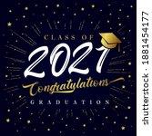 class of 2021 graduation poster ...   Shutterstock .eps vector #1881454177