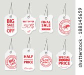 sale labels set. | Shutterstock .eps vector #188145659