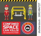 confined space work safety... | Shutterstock .eps vector #1881486727