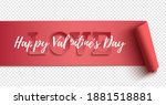 happy valentines day realistic...   Shutterstock .eps vector #1881518881