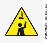 warning. falling objects vector ... | Shutterstock .eps vector #1881530161