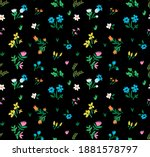 seamless pattern with abstract... | Shutterstock .eps vector #1881578797