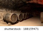 Wine Barrels In A Traditional...