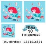 game for children find the ten... | Shutterstock .eps vector #1881616591