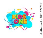 kids title event vector icon... | Shutterstock .eps vector #1881622231