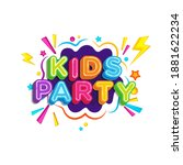 kids title event vector icon... | Shutterstock .eps vector #1881622234