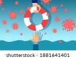 vector of a businessman being... | Shutterstock .eps vector #1881641401
