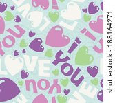vector eps seamless sweet... | Shutterstock .eps vector #188164271