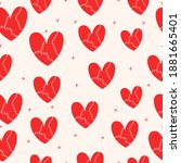 seamless pattern with large... | Shutterstock .eps vector #1881665401