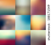 collection of abstract blur... | Shutterstock .eps vector #188171549