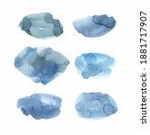 blue natural watercolor texture ... | Shutterstock .eps vector #1881717907