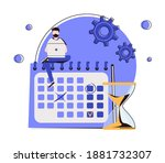 deadline abstract concept... | Shutterstock .eps vector #1881732307
