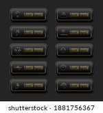 web buttons black with golden...