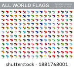 all world flags   vector set of ... | Shutterstock .eps vector #1881768001