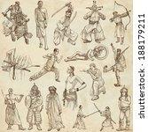 soldiers  warriors and heroes ... | Shutterstock . vector #188179211