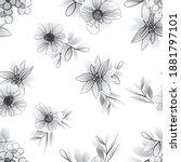 flower print. elegance seamless ...   Shutterstock .eps vector #1881797101