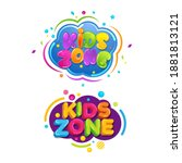 kids title event vector icon... | Shutterstock .eps vector #1881813121