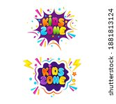 kids title event vector icon... | Shutterstock .eps vector #1881813124