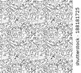 medicine hand drawn seamless | Shutterstock .eps vector #188181725