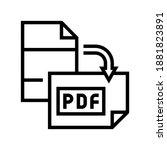 orientation pdf file line icon... | Shutterstock .eps vector #1881823891
