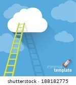 ladder to clouds. vector... | Shutterstock .eps vector #188182775