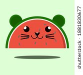 Cute Mouse Liked Watermelon ...
