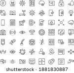 thin outline vector icon set... | Shutterstock .eps vector #1881830887